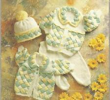 "Vintage Knitting Pattern Baby Jacket, Leggings & Hat 16""- 22"" Chest, number 291"