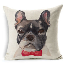 "Frenchie  Cushion Cover Dog French Bulldog Lover Gift Pillow Decor 45cm(18"")"