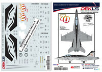 Decal 75 SQN RAAF 70th Anniversary F/A-18 Hornet 1/48 Scale