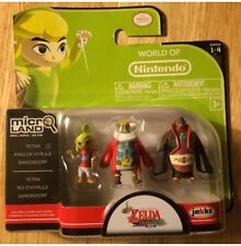 Legend Of Zelda The Wind Waker KING OF HYRULE TETRA GANON Micro Figures 3 Pack