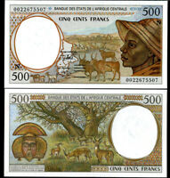 CENTRAL AFRICAN STATE (CAS); GUINEA 500 FRANCS 2000 P 501 N UNC