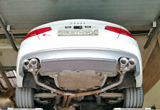 """Audi S5 4.2 V8 Rear silencer delete pipes with 3.5"""" twin straight cut tips"""