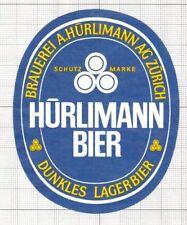 SWITZERLAND Brauerei A.Hurliman,Zurich Dunkles Lager Bier (5) beer label C1654