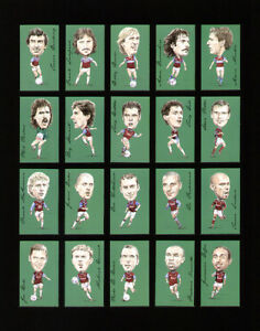 WEST HAM UNITED FAMOUS FOOTBALLERS 20 CARD SET - Brooking Cottee Di Canio Bonds