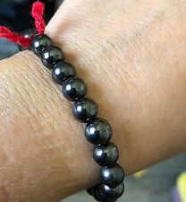 Magnetic Hematite Therapy Red String Protection Spiritual Healing Bracelet 7.5