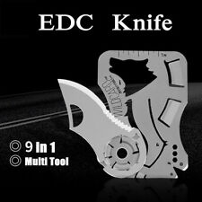 Pocket Credit Card Knife Multi Tool 9 in 1 Outdoor Survival Camping Knife