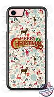 Merry Christmas Deer Pattern Design Phone Case Cover fits iPhone Samsung LG etc