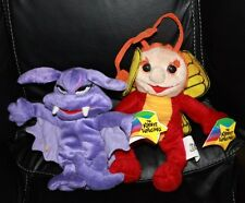 1999 Krofft Superstars Sparky & Stupid Bat Beanies Plush Toy NWT