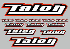 TALON decal set 12 quality printed and laminated stickers