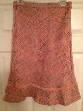 GAP TWILL TWEED PINK WOOL SKIRT size 2 NEW