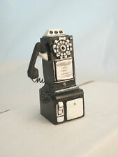 "1950S PAYPHONE miniature Telephone  plastic 1"" scale T8547 dollhouse"