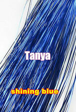 shining blue silk hair tinsel hair bling salon extensions flare strands TA27