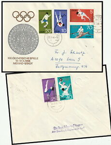 18805 - GERMANY EAST 1968 OLYMPICS MEXICO FULL SET CACHET COVER DRESDEN