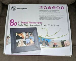 """Westinghouse Electric DPF-0802 8"""" Digital Picture Frame Tested Works In Box EUC"""