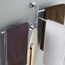 Porta asciugamani da Muro 4 Barre Girevoli Mensola Appendiabiti Da Bagno
