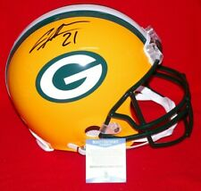 CHARLES WOODSON green bay packers signed FULL SIZE AUTHENTIC helmet Beckett COA