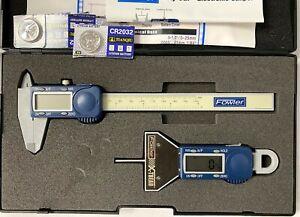 Fowler 74-004-500-0 X-Tread Tire Tread Gage And Poly-Cal Electronic Caliper Kit
