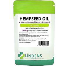 Hemp Seed (hempseed) Oil 1000mg healthy hair, skin & brain 200-capsules Linden