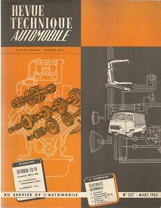 REVUE TECHNIQUE AUTOMOBILE 227 RTA 1965 CITROEN ID 19 ID19 EVOLUTION 1963 64 65
