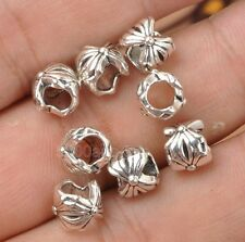 50Pcs Charms Tibetan Silver Crafts Jewelery Finding Spacer  Beads 7mm A3385