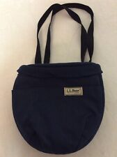 LL Bean Canvas Fanny Pack Crossbody Messenger Bag Blue