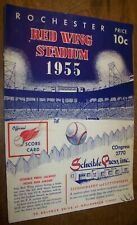 1955 RED WINGS SILVER STADIUM MINOR LEAGUE BASEBALL PROGRAM ROCHESTER NY AAA