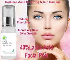 40% Professional Grade Lactic Acid Facial Peel Wrinkles Acne Age Sun Spots 60 ml