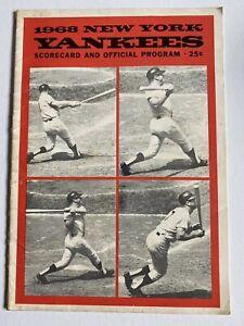 1968 Mickey Mantle Last HR #536 Program New York Yankees UNSCORED Ex vs Red Sox