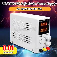 Adjustable 0-30V 0-10A 110/220V DC Power Supply Precision Variable Digital Lab