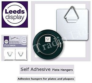 Pack of 2 Invisible Self Adhesive Sticky Pads Plate Picture Hanger Hook