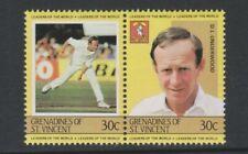 St Vincent Grenadines - 1984, Leaders, Cricketer D L Underwood - MNH - SG 297/8