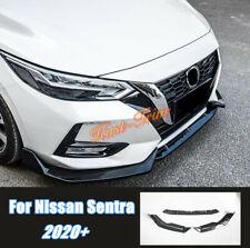 For Nissan Sentra 2020+ Carbon fiber Front Bumper Lip Body Kit Spoiler Splitter