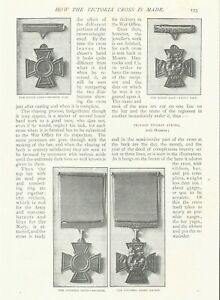 HOW VICTORIA CROSS MEDAL IS MADE BRAVERY VALOUR AWARD 1901 ARTICLE
