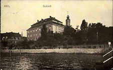Kiel Schloss Partie 1. Weltkrieg 1915 Feldpostkarte ab Ellerbek nach Oederan
