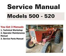 Belarus Tractor 500 Amp 520 Manual Set Technical Repair Parts Amp Operator Maint