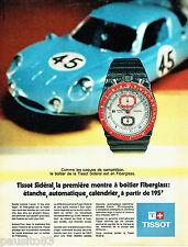 PUBLICITE ADVERTISING 096  1971  Tissot  la montre  Sidéral Fiberglass  compétit