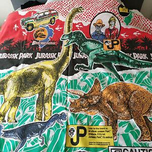 90s Vintage Jurassic Park Quilt Duvet Cover and Pillow Case