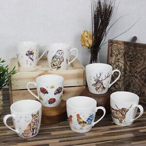 Animal Design Fine China Coffee Mugs Hot Cocoa Tea Cups 350ml Drinking Mug Gift