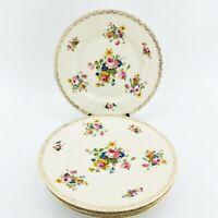 "4 Antique Pirkenhammer Plates 7102 c.1918-1938 Czechoslovakia Floral 10 3/4"""