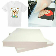 20Pcs Heat Transfer Paper T-Shirt Inkjet Iron on Sheet Light Fabrics Printer Ink