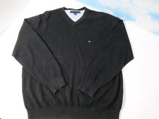 Tommy Hilfiger Mens LARGE Black Sweater Pre Owned RN 77806 Long Sleeve A16