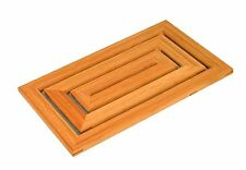 Wooden Slatted Duck Board Bathroom Bath Shower Floor Mat Non Slip Skid Resistant