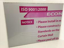 Aluminium Composite Panel 10 Pack - Metallic Silver/Gloss White 440 X 600 X 3mm