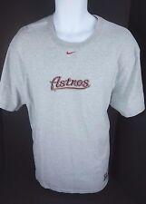 Houston Astros MLB Baseball Tee Nike Genuine Merchandise Gray T Shirt Mens M