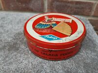 vintage old askeys pompadour fan wafer tin