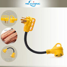 50 Amp Male to 30 Amp Female Dogbone Adapter RV Electrical Converter Cord Cable