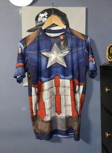 Under Armour Alter Ego Captain America Compression Shirt 1273691 410 NWT XL $60