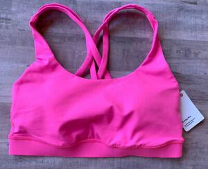 Lululemon Energy Bra *Medium Support B/C Cup - Size 4 Dark Prism Pink DKPP 02850
