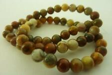 30 pce Round Crazy Lace Agate Gemstone Beads 10mm Jewellery Making Craft