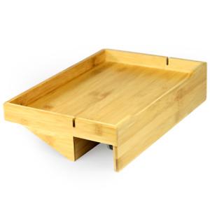 Bamboo Clip-On Bedside Shelf Ergonomic Space Saver Frame Side Table M&W